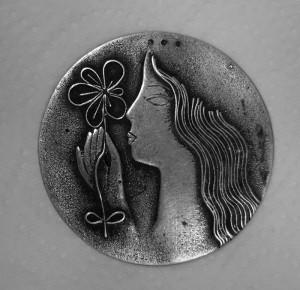H.Zeitner: Silberbrosche, Ø: ca. 5 cm, ca. 1928.